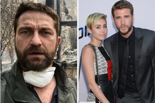 Miley Cyrus, Gerard Butler And Neil Young Are The Latest Celebrities To Lose Their Homes In The California Wildfires