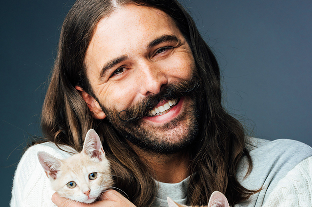 Jonathan Van Ness Answered Fan Questions Whilst Playing With Kittens And It's Basically Self-Care