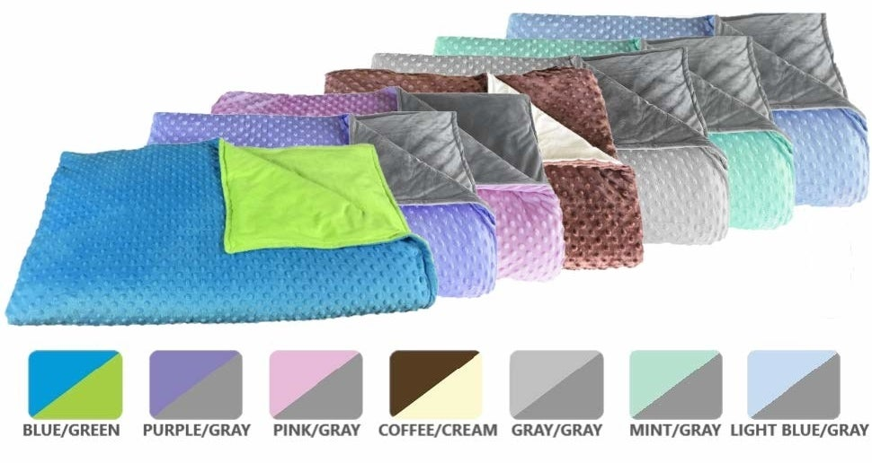 The textured blanket in the seven color combos