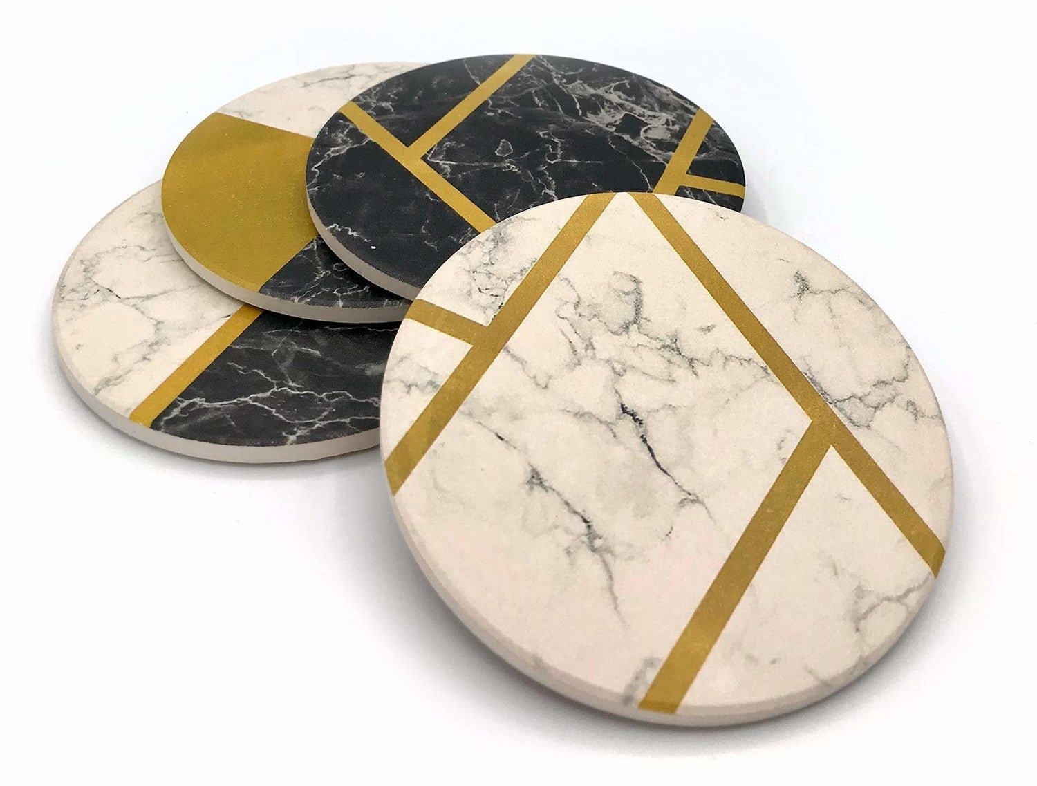 marble print stone coasters