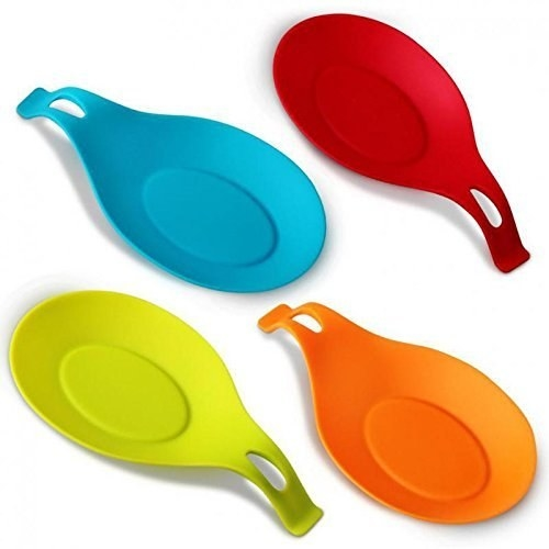 three coloful spoonrests
