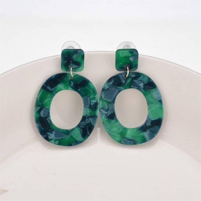 """Promising review: """"I usually do not wear cheap earrings, but these are cute, light, and very dressy! Love the green color."""" —Jaclyn PaezGet it from Amazon for $9.99 (available in four colors)."""