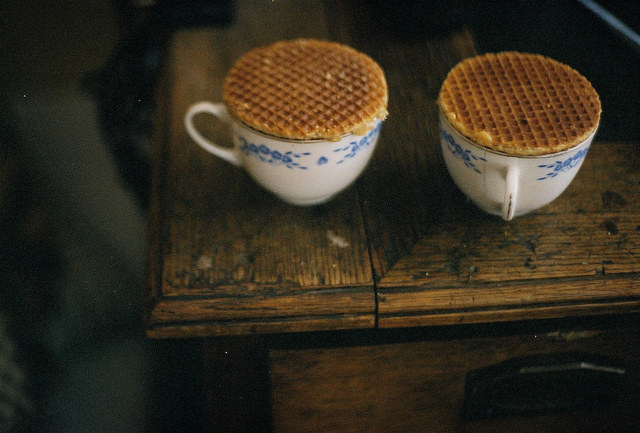 Stroopwafels are caramel-filled waffle sandwiches and they're delicious for breakfast, as a snack, and as a dessert. Placing 'em over a hot cup of tea like in the picture above will get the caramel filling perfectly gooey.