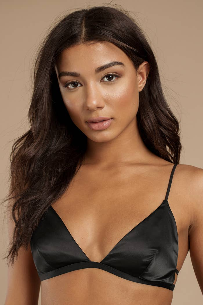 A satin bralette sure to become your go-to LBB  Little Black Bralette —  because little black dresses are so five minutes ago c8c20b299