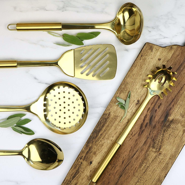 the all-gold utensil set