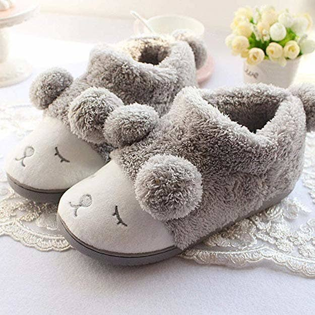 79427697efa Indoor fleece slippers that ll envelope your feet in warmth and cuteness  and love — which