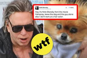 Mickey Rourke Went On A Hot Date With His Dog But Then Paparazzi Ruined It And Now People Are Really Pissed