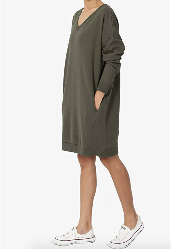 A sweatshirt dress with pockets that ll be so comfy e6cdeff85