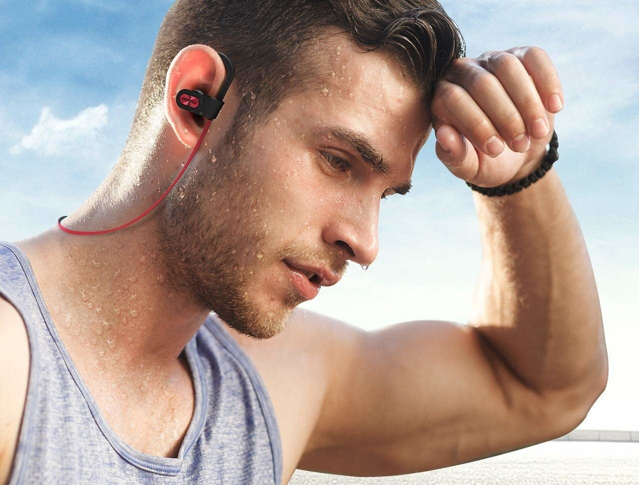 """Promising review: """"Great headphones for the price. I wear them every day for at least two hours per day, including at the gym. They are comfortable and stay in my ear just fine. The volume is loud and I am able to connect to my phone and laptop at the same time. They have great range and build quality. The battery lasts a long time — it has over 10 hours of talk time."""" —Saber APrice: $19.99 (available in two colors)"""