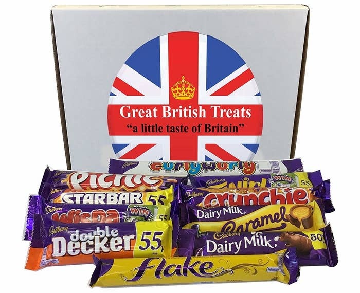 assorted british chcoolate bars