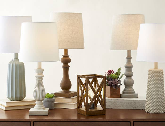 Let there be light! Bonus: Neutral lamps are good for any season. Grab a lamp here and a lampshade to match.