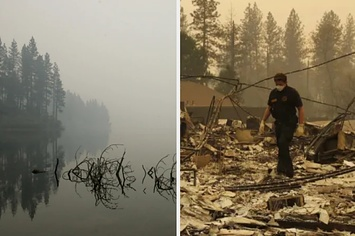 Surrounded By California's Deadliest Wildfire, People Jumped Into A Lake And Creek To Survive