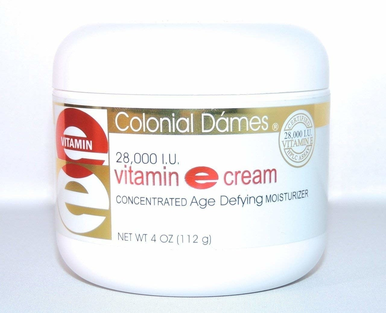 bottle of colonial dames vitamin E cream