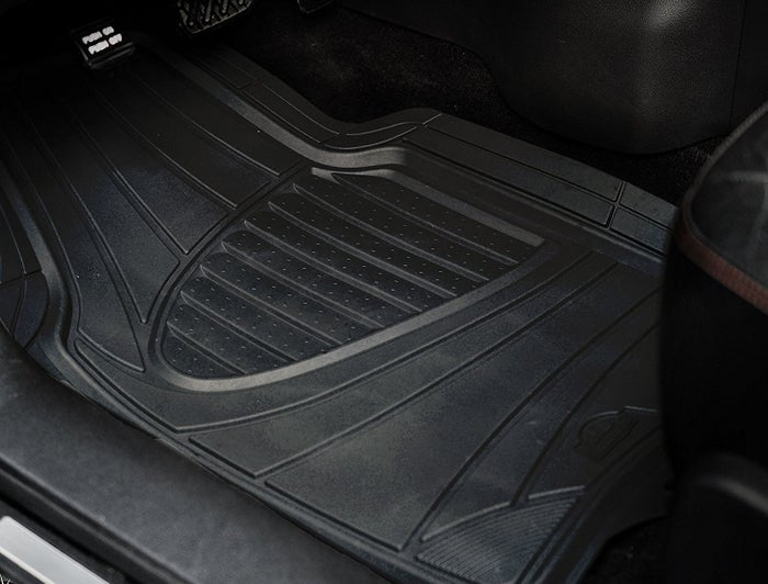 """These are designed to fit most vehicles and can be trimmed to get a perfect fit!Promising review: """"These mats are well worth the purchase. They're thick, well-made, and have little teeth that ensure they don't move. I was doubtful, but they actually keep the mats in place. FINALLY. I have paid more or around the same amount of money for mats that didn't even come close to comparing to these. Gonna buy them for my truck as well. I'd gladly pay twice what these cost as great as they are."""" —Vanessa RutherfordGet a four-piece set from Amazon for $19.99."""