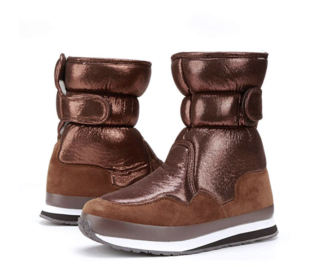 the sneaker boots in brown metallic