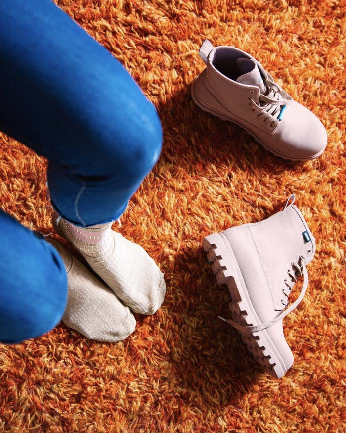 a7ab70baaaaaf A pair of lace-up boots with a microfleece lining you'll be blushing to put  on in the morning when the weather's crappy.