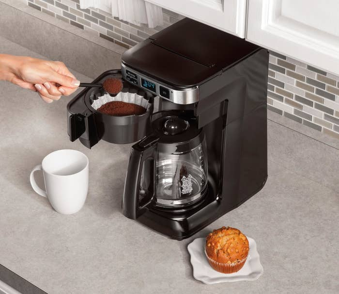 This 14-cup coffee maker automatically shuts off after two hours.Get it from Amazon for $34.99.