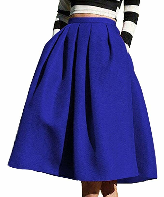 53681097c A stunning flared midi with pleats and pockets that's just begging to be  paired with tights and heels at your next holiday party. Amazon ...