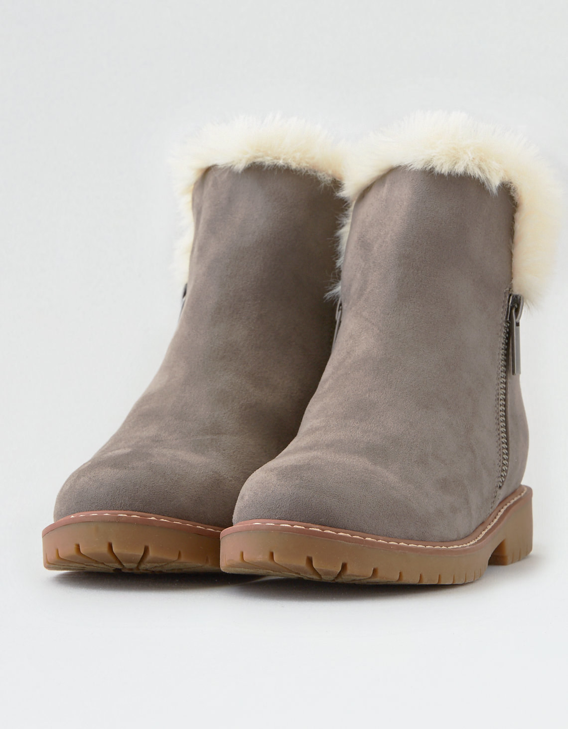 NEW OLDER GIRLS WOMENS FLAT FAUX SUEDE WARM FURRY WINTER CALF SCHOOL BOOTS SHOES