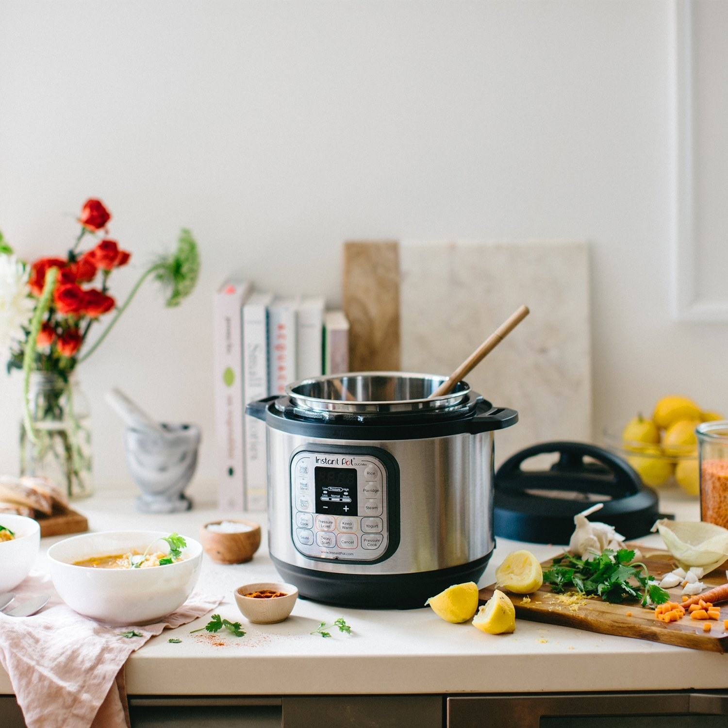 Instant Pot on a kitchen countertop