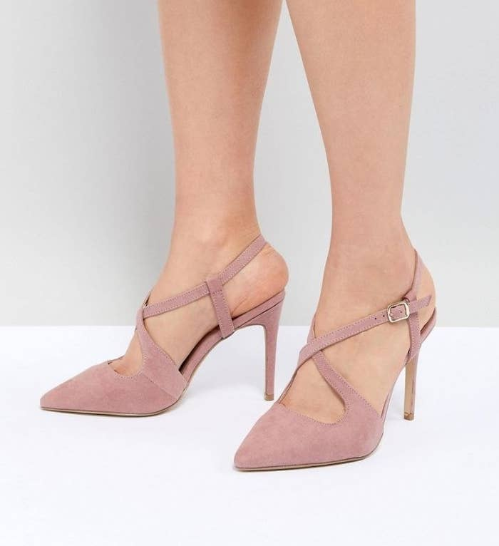 e9c31159d3 A pair of criss-cross stilettos to *step up* your closet's heel game.