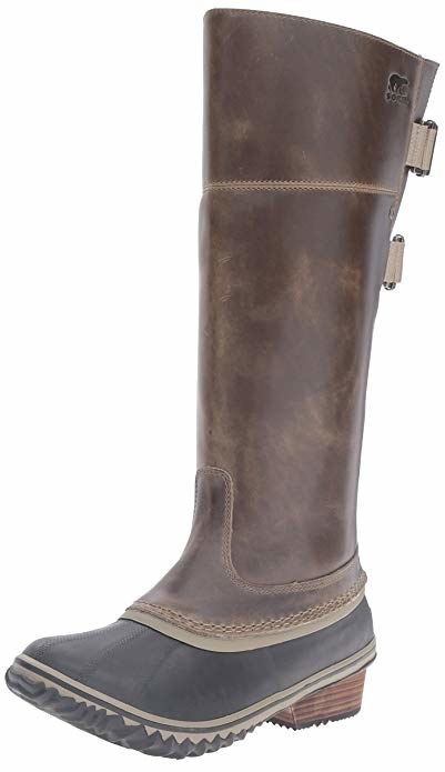 the knee-high boots in brown