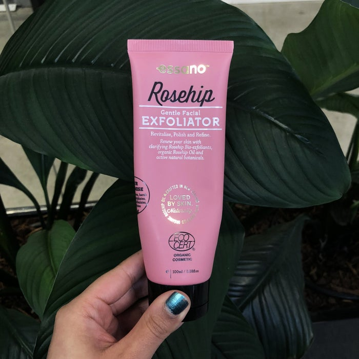 """I've heard a lot about the benefits of using rosehip-based products, so I decided to give this face wash a go. It's got a lovely scrub-like consistency that leaves my skin feeling refreshed and clean. Also I know Essano is technically a New Zealand brand, but their products are organic, are able to be recycled and aren't tested on animals, so I couldn't leave it out!"" — Isha BassiGet it at Priceline."