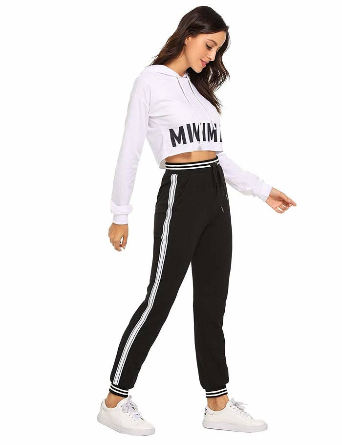 """Get them from Amazon for $12.99+ (available in sizes XS–XXL and 30 styles)Promising review: """"I'd been looking for a pair of sweatpant-like pants that weren't sloppy to wear running errands, but also are comfy for around the house relaxing. These are perfect. I ordered a size up since I wanted a a loser fit. They fit great, the pockets hold a ton of stuff (and without looking bulky) which I love. The fabric is soft and has held up through several washes so far without any pilling. They also go well with the crop tops I have."""" —Sophiesaur"""