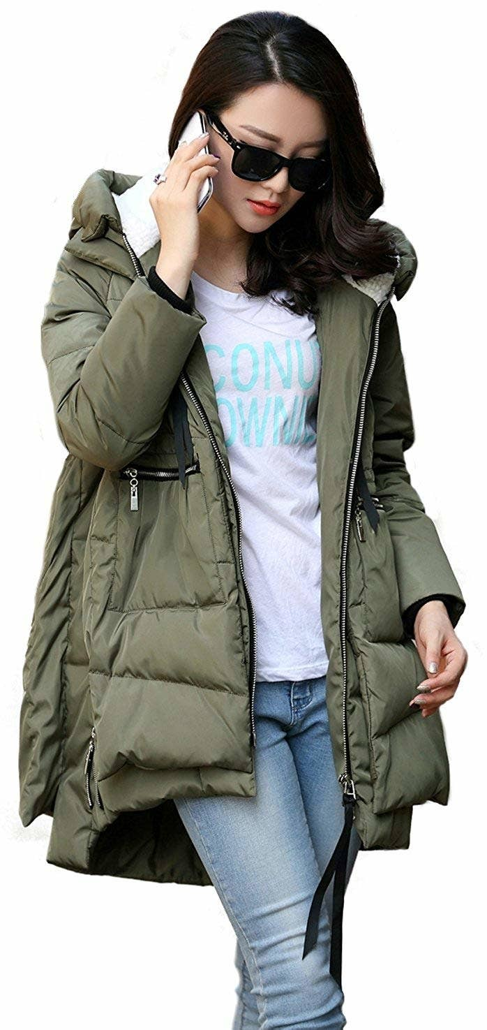 fcaa965624c99 A chicly oversized parka that ll keep you warm — and make everyone think  your splurged big time. Mega style and mega warmth for under  100  Sign me  up.