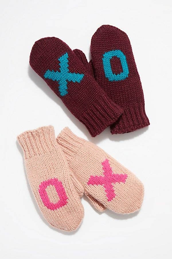 A Pair Of Knit Mittens So Your Sister Can Be Cozy But Also Make It Fashun