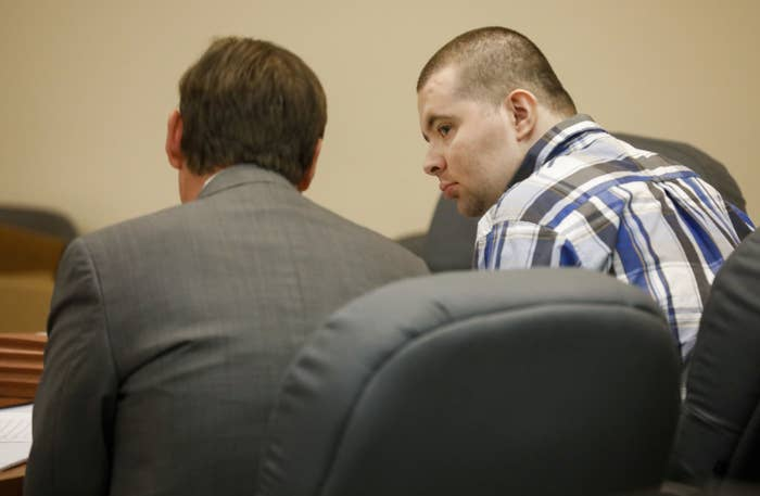 Nicholas Godejohn sits in the courtroom on the second day of his trial on Nov. 14.