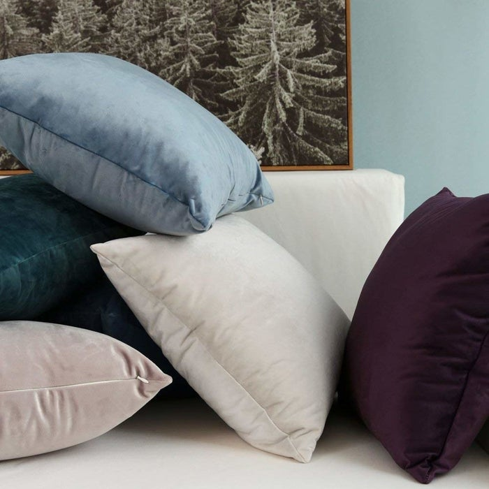 """Promising review: """"Like other reviewers have said, this cover completely surpassed my expectations. I've purchased a lot of pillow covers and they have been pretty low quality and cheap looking. Not these! Finally! I was looking for something for my main couch in my living room that was soft enough that someone could nap on comfortably, and these are so perfect. They're much softer than any velvet I've ever felt. I'm already trying to think of an excuse to buy more in different colors."""" —HappyasaclamGet a two-pack from Amazon for $11.99+ (available in nine sizes and 28 colors)."""