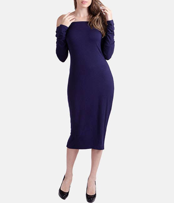 4fd41e018bdc An off-the-shoulder dress with long sleeves you can rock to endless  functions.