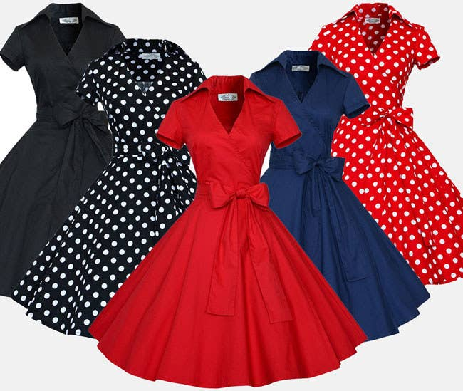 ac9987edb191 A vintage-style dress with an oversized bow which'll be your new fave.
