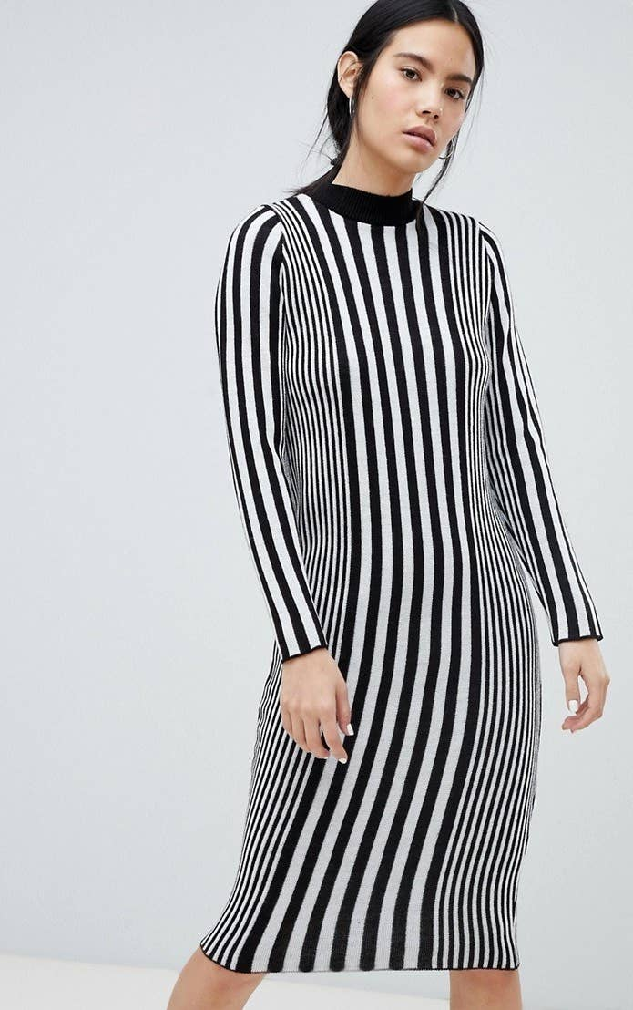 5f36f00aec9 A striped knit dress for living every day like you re cosplaying as Jack  Skellington.