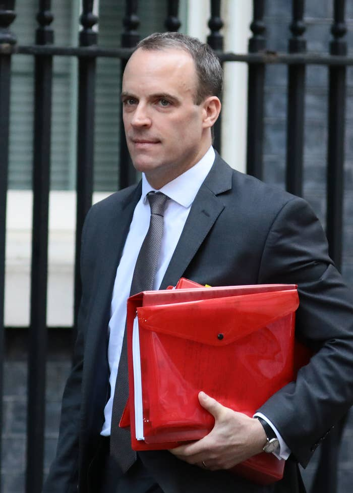 Dominic Raab, who quit as Brexit secretary on Wednesday.