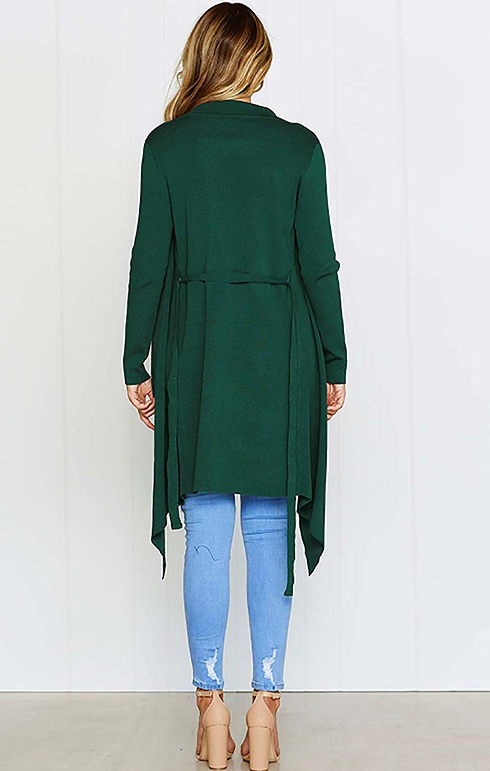 30494d6db30 2. An asymmetrical belted cardigan with a gorgeous silhouette.