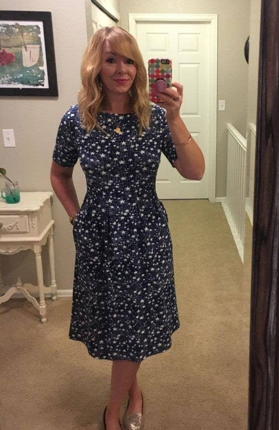 babcdb9a A vintage-inspired a-line dress to match that