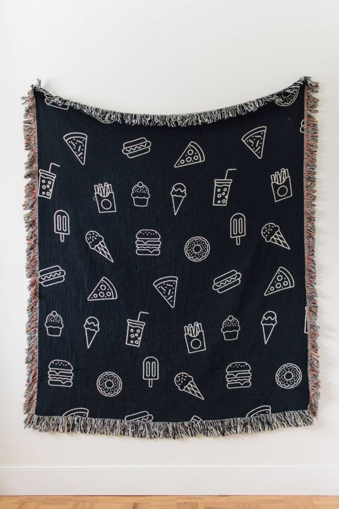 An Appetizing Junk Food Themed Blanket For The Sister You Can Always Count On To Go A Fast Crawl With