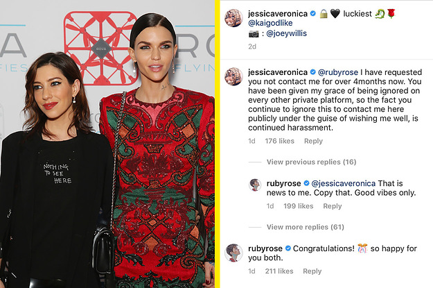 Ruby Rose's Ex-Girlfriend Just Called Her Out On Instagram For