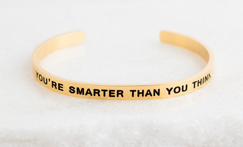 To say I'm in love with this product would be a massive understatement. I own seven different styles and even gifted each of my bridesmaids one as a thank-you for being in my wedding. With so many sweet Disney quotes to choose from, you can really find the perfect bracelet for anyone in your life. This one with the sweet quote from Winnie the Pooh is at the top of my list.Get it from Lillian & Co for $32 (available in silver, rose gold, and gold).
