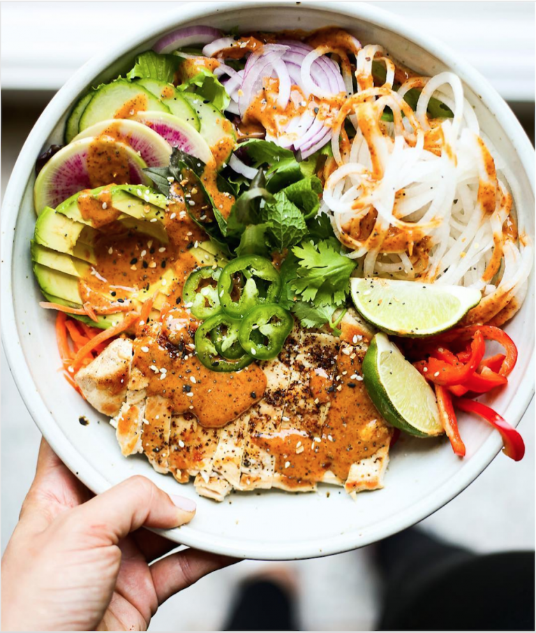 Dress these deconstructed spring roll bowls with whatever ingredients you have on hand from peanuts and cilantro to radish and jalapeño. Get the recipe.