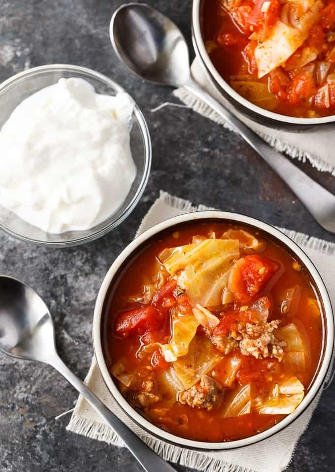 Hearty, comforting, and filling, this take on stuffed cabbage will warm you up on winter nights. Make a big batch and keep it in the freezer for lazy dinners. Get the recipe.