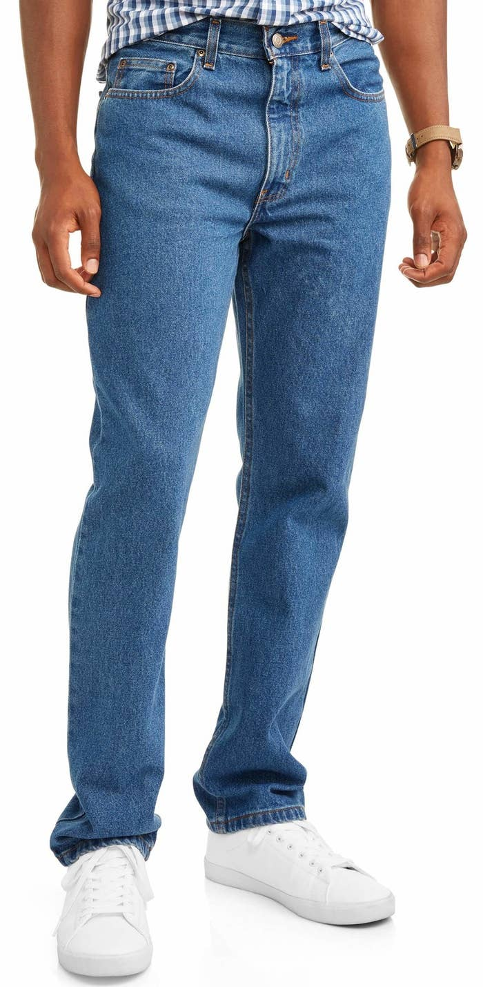 43e4b8fd880 Men's regular fit jeans made of 100% cotton for contemporary styling that  will last. Walmart