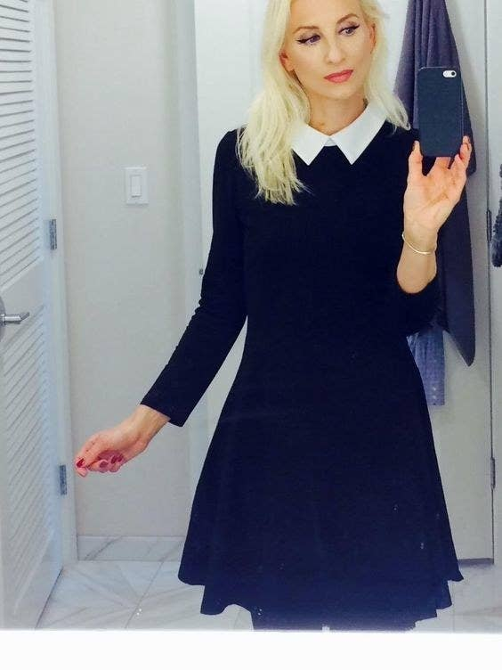 A Peter Pan–collar skater dress so you can rock your natural Wednesday  Addams vibe FAR past Halloween.