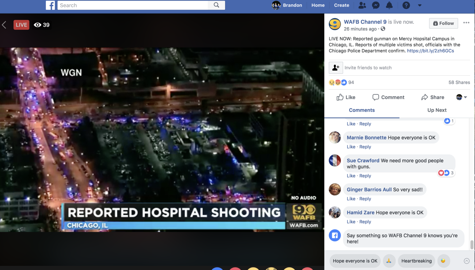 Facebook Is Testing Auto-Responses For Live Video And Some Of The Suggestions Are Offending People
