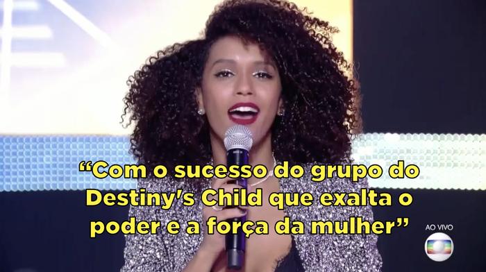 """""""A Jennifer Nascimento disputa o título de campeã com o sucesso do grupo do Destiny's Child que exalta o poder e a força da mulher"""""""