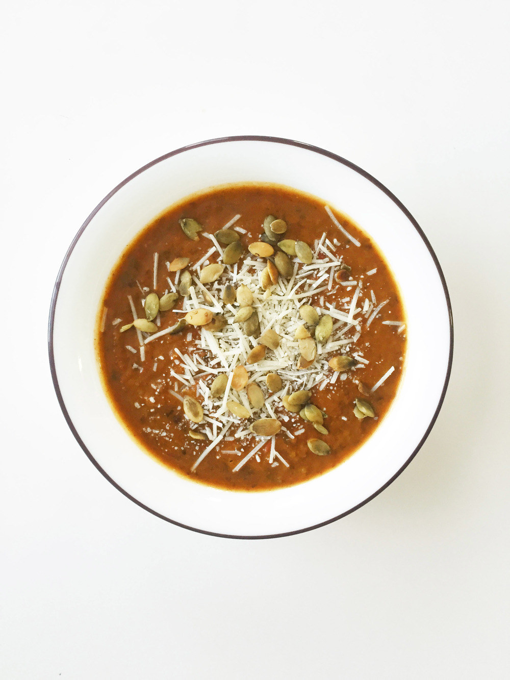 Now THIS is what I call pumpkin spice: This soup doesn't just call for pumpkin and black beans (which, first of all, YUM) — there's some diced jalapeño in there, too. Get the recipe here.
