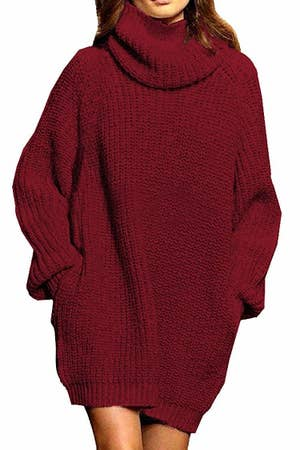 3. A dreamy and chunky sweater dress people will think was knitted with love by a sweet and talented grandparent — little do they know your grandparents are ...