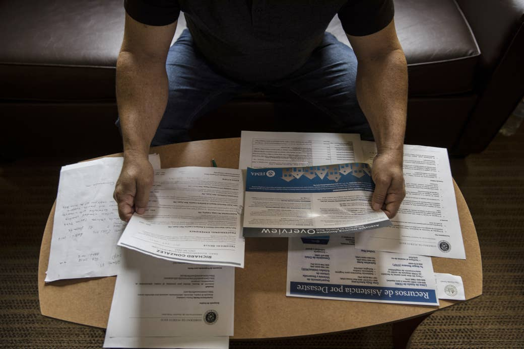 Richard Gonzalez, who fled Puerto Rico in January, relied on hotel vouchers from FEMA while trying to find long-term housing in South Florida.